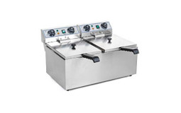 Electric Fryer - 2x10 L (Material to be cleaned)