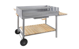 Wood/Charcoal Barbecue - 100x60 cm (Material to be cleaned)