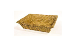 Rectangular bread basket in rattan - 30x22 cm