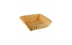 Square Bread Basket in Wicker - 25x25 cm