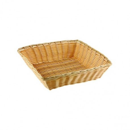 Square Bread Basket in Wicker - 25x25 cm