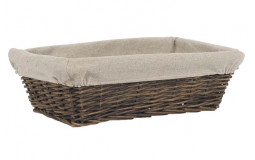 Rectangular Basket in Raw Wicker - 35x24x11 cm