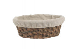 Round Bread Basket in Raw Wicker - Ø27 cm