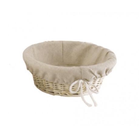 Round Bread Basket in Wicker - Ø 25 cm