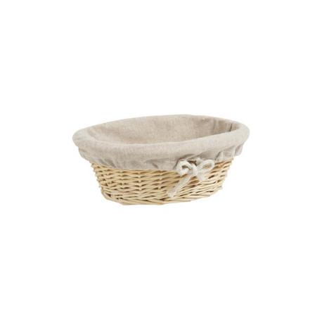 Oval Bread Basket in Wicker - 29x20x10 cm