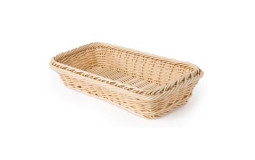 Rectangular bread basket in wicker - 32x17 cm