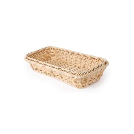 Rectangular bread basket in wicker - 32x17 cm