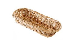 Long bread basket in wicker - 40x15 cm