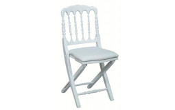Napoleon III Prestige White Folding Chair