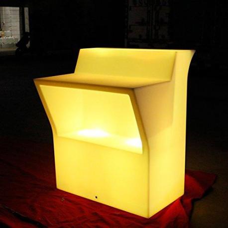 Bar droit lumineux L270xP82xH110 (3 éléments droits)