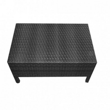 Coffee Table In Braided Resin Seat 61x53x44 Cm Happy Days