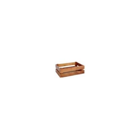 Bread basket in varnished wood - 29x19x10 cm